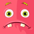 Monster avatar cartoon character funny vector eps Royalty Free Stock Photo