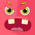 Monster avatar cartoon character funny vector eps Stock Image