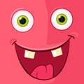 Monster avatar cartoon character funny vector eps Stock Images