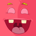 Monster avatar cartoon character funny vector eps Royalty Free Stock Images