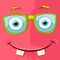 Monster avatar cartoon character funny vector eps Stock Photography
