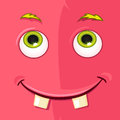 Monster avatar cartoon character funny vector eps Stock Photos