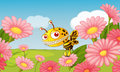 A monster bee illustration of in beautiful nature Royalty Free Stock Image