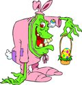 Monster in bunny suit Royalty Free Stock Photos