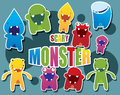 Monster collection Royalty Free Stock Photography
