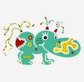 Monster creature essence bacteria virus UFO alien small hippo