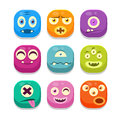 Monster Emoji Icons Set