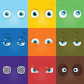 Monster eyes set of vector cartoon funny Royalty Free Stock Photo