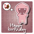 Monster happy birthday card Stock Image