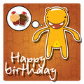 Monster happy birthday card Royalty Free Stock Image