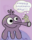 Monster: Happy Mother day Royalty Free Stock Image