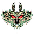 Monster the head of the this is vector illustration ideal for a mascot and tattoo or t shirt graphic Stock Photography