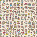 Monster letters seamless pattern Royalty Free Stock Photos