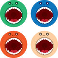 Monster mouth round colors large in various Royalty Free Stock Image