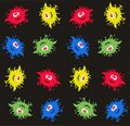 Monster pattern Royalty Free Stock Images