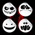 Monster smileys, halloween stickers. Stock Photography