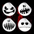 Monster smileys, halloween stickers. Royalty Free Stock Photo