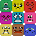 Monster Smileys, Set Royalty Free Stock Photo