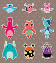 Monster stickers Royalty Free Stock Photos