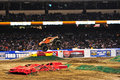 Monster truck at Angel Stadium Stock Images