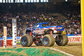 Monster truck at Angel Stadium Stock Image