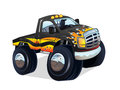 Monster truck cartoon vector illustration of a Stock Photography