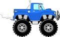 Monster truck 4x4 cartoon Royalty Free Stock Photo