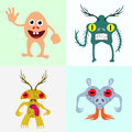 Monsters abstract set vector illustration Stock Photography