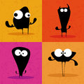 Monsters abstract silhouette on a special background Royalty Free Stock Photography