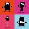 Monsters abstract silhouette on a special background Stock Images