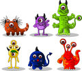 Monsters cartoon collection Stock Photography