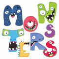 Monsters illustration vector freak alphabet Royalty Free Stock Images
