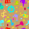 Monsters pattern Stock Images