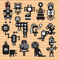 Monsters and robots collection vector illustration Royalty Free Stock Images
