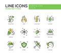Monsters Sypes - line design icons set