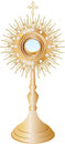 Monstrance liturgical vessel vector illustration Stock Images