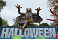Monstrous eagle in bellewaerde park for halloween november the st Royalty Free Stock Images