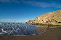 Monsul beach at cabo de gata scenic natural park andalusia spain Stock Photo
