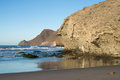 Monsul beach at cabo de gata scenic natural park andalusia spain Royalty Free Stock Images