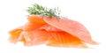 Montón de salmones en blanco Foto de archivo libre de regalías