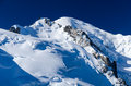 Mont blanc alps chamonix france is the highest mountain of europe m altitude Stock Photography