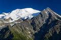Mont blanc alps chamonix france is the highest mountain of europe m altitude Stock Photos