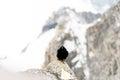 Mont blanc black bird Royalty Free Stock Photo