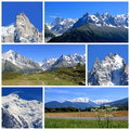 Mont-Blanc collage, France Royalty Free Stock Photography