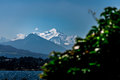 Mont Blanc and Lake Geneva. Royalty Free Stock Photo