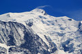 Mont-Blanc massif, France Royalty Free Stock Photos