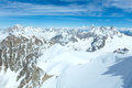 Mont Blanc mountain massif (view from Aiguille du Midi Mount,  F Royalty Free Stock Photos