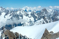 Mont Blanc mountain massif (view from Aiguille du Midi Mount, Fr Stock Photos