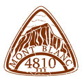 Mont blanc stamp rubber on a white background Royalty Free Stock Images