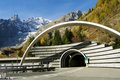 Mont Blanc Tunnel Royalty Free Stock Photo